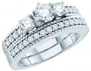 Ladies Two Piece Set 14K White Gold 1.00 ct. GD-52543