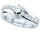 Ladies Two Piece Set 14K White Gold 0.51 cts. GD-52548
