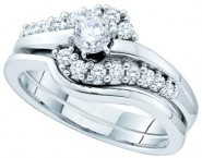 Ladies Two Piece Set 14K White Gold 0.50 cts. GD-52550 [GD-52550]