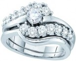 Ladies Two Piece Set 14K White Gold 1.00 ct. GD-52551