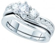 Ladies Two Piece Set 14K White Gold 1.00 ct. GD-52552 [GD-52552]