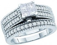 Ladies Two Piece Set 14K White Gold 1.00 ct. GD-52575