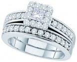 Ladies Two Piece Set 14K White Gold 1.00 ct. GD-52577