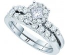 Ladies Two Piece Set 14K White Gold 1.00 ct. GD-52582