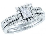 Ladies Two Piece Set 14K White Gold 0.50 cts. GD-52612