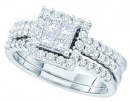 Ladies Two Piece Set 14K White Gold 1.00 ct. GD-52739 [GD-52739]