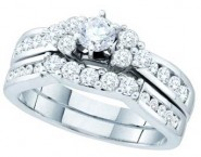 Ladies Two Piece Set 14K White Gold 1.00 ct. GD-52562