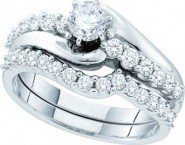 Ladies Two Piece Set 14K White Gold 1.00 ct. GD-52755 [GD-52755]