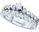 Ladies Two Piece Set 14K White Gold 0.50 cts. GD-52762