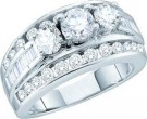 Ladies Engagement Ring 14K White Gold 1.00 ct. GD-52779