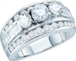 Ladies Engagement Ring 14K White Gold 3.00 ct. GD-52765