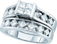 Ladies Two Piece Set 14K White Gold 2.00 ct. GD-52766