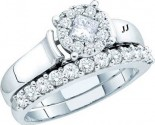 Ladies Two Piece Set 14K White Gold 1.00 ct. GD-52778