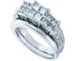 Ladies Two Piece Set 14K White Gold 2.00 ct. GD-52993