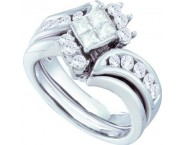 Ladies Two Piece Set 14K White Gold 1.00 ct. GD-52997