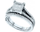 Ladies Two Piece Set 14K White Gold 0.50 cts. GD-53156