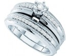 Ladies Two Piece Set 14K White Gold 0.25 cts. GD-53209