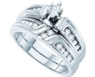Ladies Two Piece Set 14K White Gold 0.38 cts. GD-53213