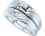 Ladies Two Piece Set 14K White Gold 0.10 cts. GD-53216
