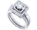 Ladies Two Piece Set 14K White Gold 0.50 cts. GD-53240