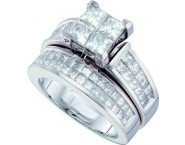 Ladies Two Piece Set 14K White Gold 3.00 ct. GD-53489 [GD-53489]
