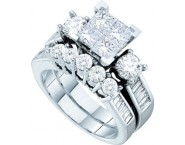 Ladies Two Piece Set 14K White Gold 2.00 ct. GD-28310