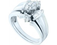 Ladies Two Piece Set 14K White Gold 0.17 cts. GD-53566