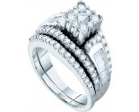 Ladies Two Piece Set 14K White Gold 1.47 cts. GD-54189
