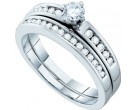 Ladies Two Piece Set 14K White Gold 0.47 cts. GD-54582