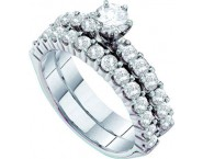 Ladies Two Piece Set 14K White Gold 2.06 cts. GD-73880