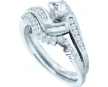 Ladies Two Piece Set 10K White Gold 0.50 cts. GD-57507