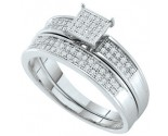 Ladies Two Piece Set 10K White Gold 0.20 cts. GD-63088
