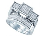 925 Sterling Silver 2-Piece Set with Diamonds 0.52 cts. GD-63858