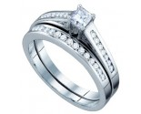 Ladies Two Piece Set 10K White Gold 0.50 cts. GD-63923