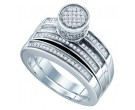 925 Sterling Silver 2-Piece Set with Diamonds 0.38 cts. GD-63959