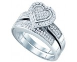 925 Sterling Silver 2-Piece Set with Diamonds 0.39 cts. GD-63961