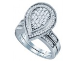 925 Sterling Silver 2-Piece Set with Diamonds 0.53 cts. GD-63963