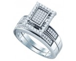 925 Sterling Silver 2-Piece Set with Diamonds 0.55 cts. GD-63965
