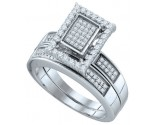 Ladies Two Piece Set 10K White Gold 0.55 cts. GD-63986