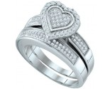 Ladies Two Piece Set 10K White Gold 0.39 cts. GD-63990