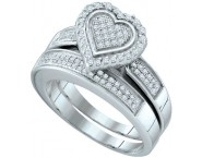 Ladies Two Piece Set 10K White Gold 0.39 cts. GD-63990 [GD-63990]