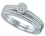 Ladies Two Piece Set 10K White Gold 0.20 cts. GD-64690