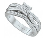 Ladies Two Piece Set 10K White Gold 0.25 cts. GD-65001