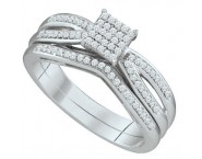 Ladies Two Piece Set 10K White Gold 0.25 cts. GD-65001 [GD-65001]