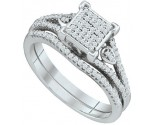 Ladies Two Piece Set 10K White Gold 0.33 cts. GD-65038