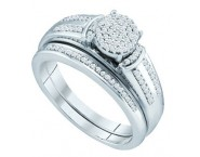 Ladies Two Piece Set 10K White Gold 0.25 cts. GD-65042 [GD-65042]