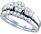 Ladies Two Piece Set 14K White Gold 0.54 cts. GD-65537