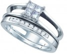 Ladies Two Piece Set 14K White Gold 0.51 cts. GD-65558