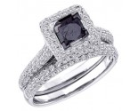 Black Diamond Two Piece Set 14K White Gold 1.25 cts. GD-66989