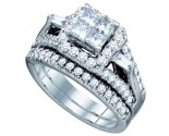Ladies Two Piece Set 14K White Gold 1.56 cts. GD-67209
